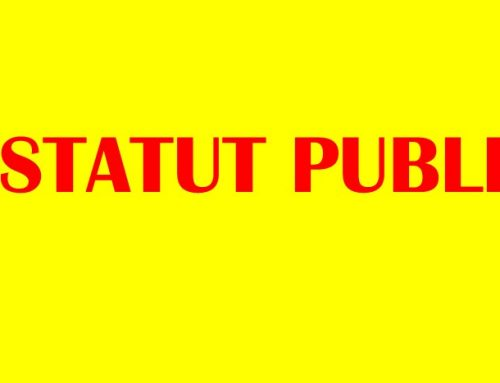 CLASSIFICATION STATUT PUBLIC