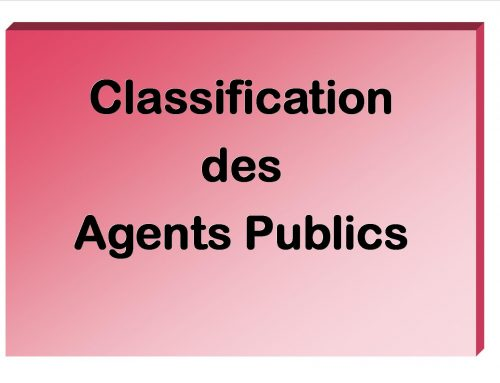 Classification Agents Publics