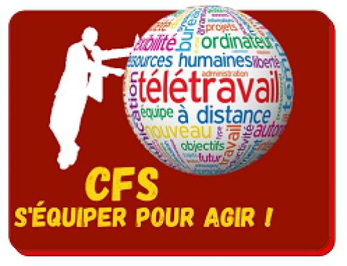CFS sur le Télétravail – 16 mars ! INSCRIVEZ – VOUS !