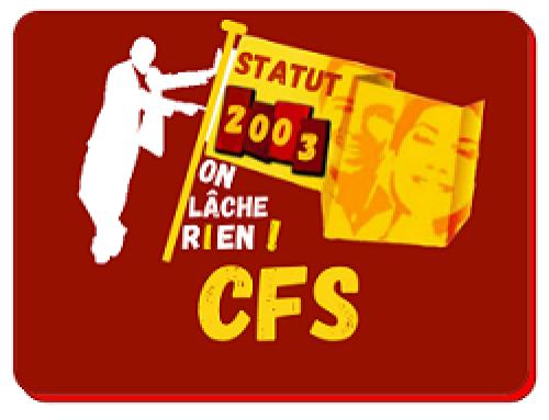CFS sur la nouvelle classification des agent-es de Statut Public le 25 février !